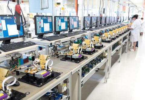 Nhà máy sản xuất linh kiện điện tử điện thoại tại Jabil tại Penang, Malaysia